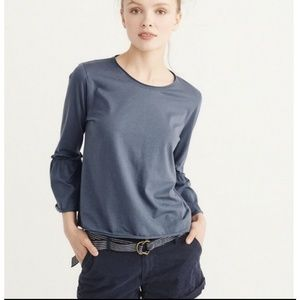 Abercrombie & Fitch 3/4 Bell Sleeve Cropped Top